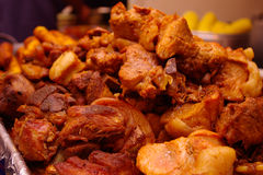 Free Delicious Pork Meat Fried On Oil Close Up, Behind Yellow Corn Royalty Free Stock Photography - 70471767