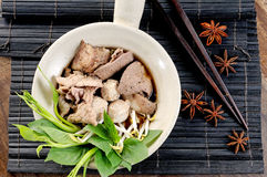 Delicious pork noodle Stock Photos