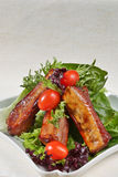 Delicious pork ribs Stock Images