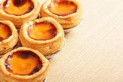 Delicious portuguese egg tart Royalty Free Stock Photography