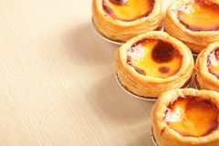 Delicious portuguese egg tart Stock Photography