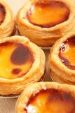 Delicious portuguese egg tart Stock Photo