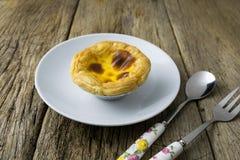 Delicious portuguese egg tart Stock Photography