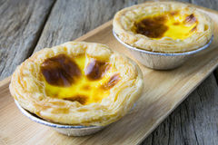 Delicious portuguese egg tart Royalty Free Stock Images