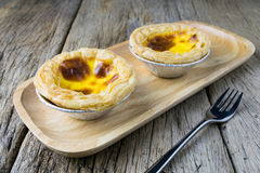 Delicious portuguese egg tart Royalty Free Stock Image