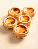 Delicious portuguese egg tart Stock Image