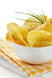 Delicious potato chips. Royalty Free Stock Photos