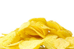 Delicious potato chips Stock Images