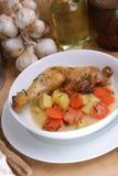 Delicious potato soup stock photos