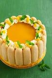 Delicious pound cake Charlotte Royalty Free Stock Photos