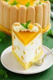 Delicious pound cake Charlotte Royalty Free Stock Image
