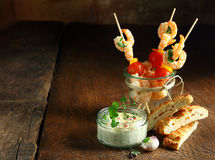 Delicious Prawn Appetizers Royalty Free Stock Photography