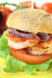 Delicious prawn burger Stock Photo