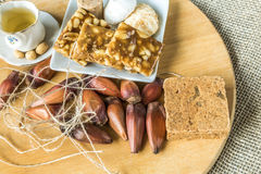 Delicious prepared for the famous Brazilian Festa Junina (Junina Party) Royalty Free Stock Images
