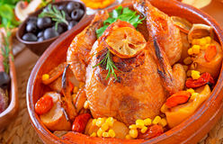 Delicious prepared Thanksgiving turkey Stock Images