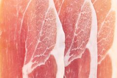 Delicious prosciutto. Royalty Free Stock Photography