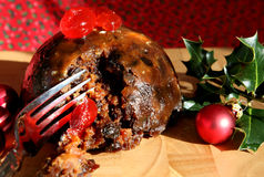 Delicious Pudding. A luxury home made Christmas Pudding stock photography