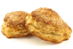 Delicious puff pastry cherry turnovers Stock Images