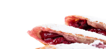 Delicious puff pie with cherry. Stock Image