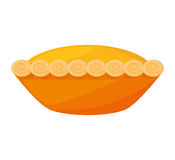 Delicious pumpkin pie icon Stock Photography