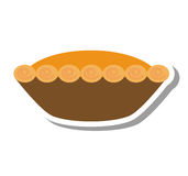 Delicious pumpkin pie icon Royalty Free Stock Images