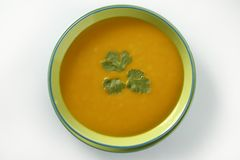 Delicious pumpkin soup Royalty Free Stock Images