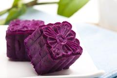 Delicious purple potato cakes Stock Image