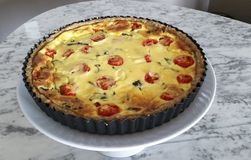 Delicious Quiche on plate, healthy and appetizing. Delicious quiche on the plate, healthy and appetizing Stock Photography