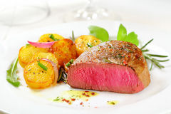 Delicious rare fillet steak Stock Images