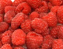 Delicious raspberries Stock Photos