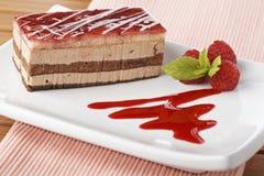 Delicious raspberries cake stock image
