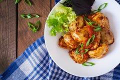 Delicious ravioli with tomato sauce Stock Photography