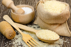 Delicious raw rice for healthy diet. Stock Photo