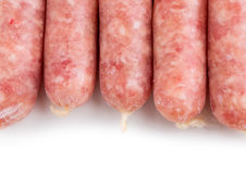 Delicious raw sausages for barbecue. Stock Photography