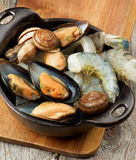 Delicious Raw Seafood Royalty Free Stock Photo