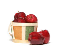 Delicious red apples Stock Photography