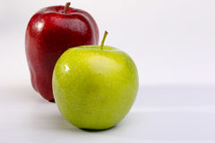 Delicious Red Apples and Granny Smith Apple. On white background stock photography