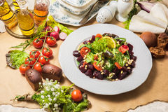 Delicious red beet salad Stock Photos
