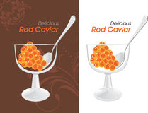 Delicious red caviar. Labels for design Royalty Free Stock Photography