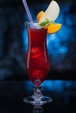 Delicious red cocktail Stock Image
