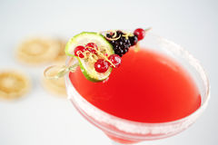 Delicious red cocktail. In studio Royalty Free Stock Image