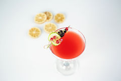 Delicious red cocktail. In studio Royalty Free Stock Photos