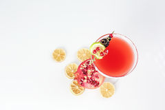 Delicious red cocktail. In studio Stock Image