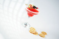 Delicious red cocktail. In studio Royalty Free Stock Photo