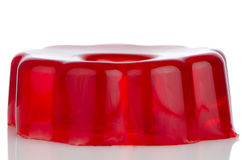 Delicious red gelatin Stock Photos