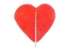 Delicious red lollipop Stock Images