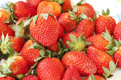 Delicious Red Strawberries. Bunch of Delicious Red Strawberries stock image