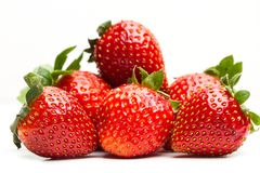 Delicious red strawberrys stock images