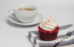 Delicious red velvet cupcake on white background. suitable for the party and gift. Delicious red velvet cupcake on white background that suitable for the Royalty Free Stock Photo