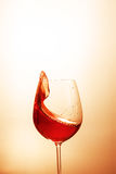 Delicious red wine in a glass. The concept of beverages and alco Stock Image